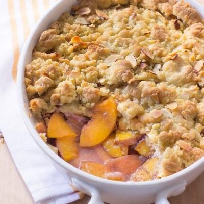 Nectarine Almond Rosé Crumble / JillHough.com
