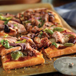 Pork Tenderloin and Sausage Flatbread / JillHough.com
