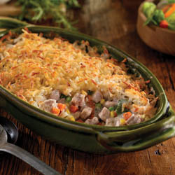 Pork and Hash Brown Shepherd's Pie / JillHough.com