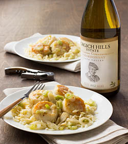 Scallop Scampi with Spring Onions and Orzo / JillHough.com
