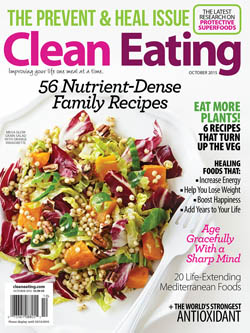 Clean Eating October 2015 Cover / JillHough.com