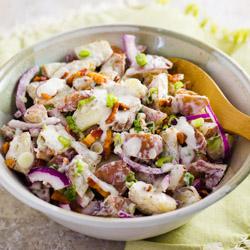 Bacon Ranch Potato Salad / JillHough.com
