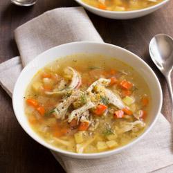 Chicken Soup with Freekah, Carrot, and Parsnip / JillHough.com
