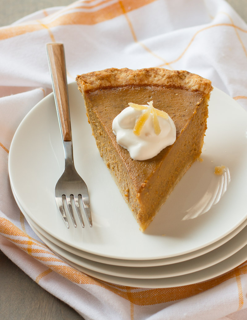 Pumpkin Pie with Gingered Whipped Cream