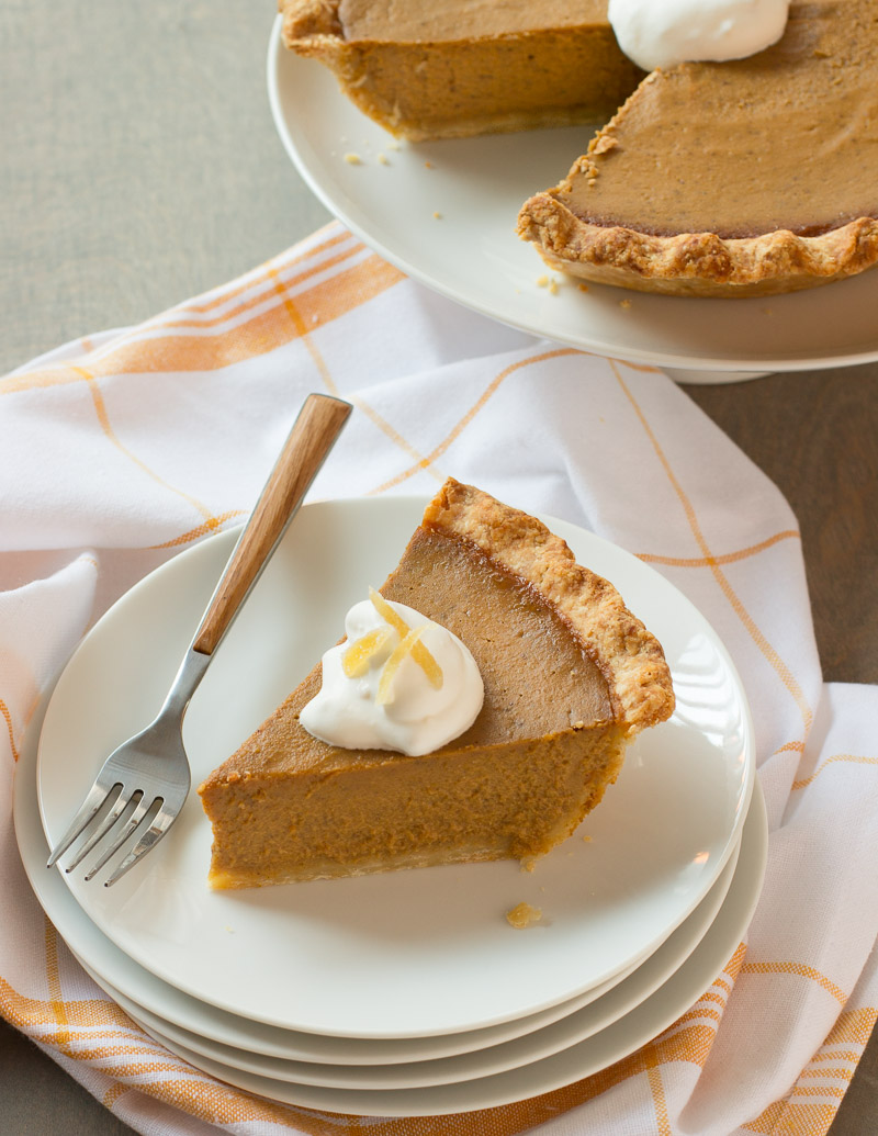 Pumpkin Pie with Gingered Whipped Cream / JillHough.com