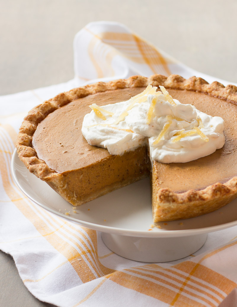 Pumpkin Pie with Gingered Whipped Cream / JillHough.com