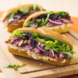 Spicy Cheese and Steak Sandwiches / JillHough.com