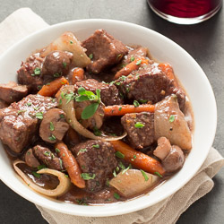 Wine-Simmered Beef Stew, perfect for right about now