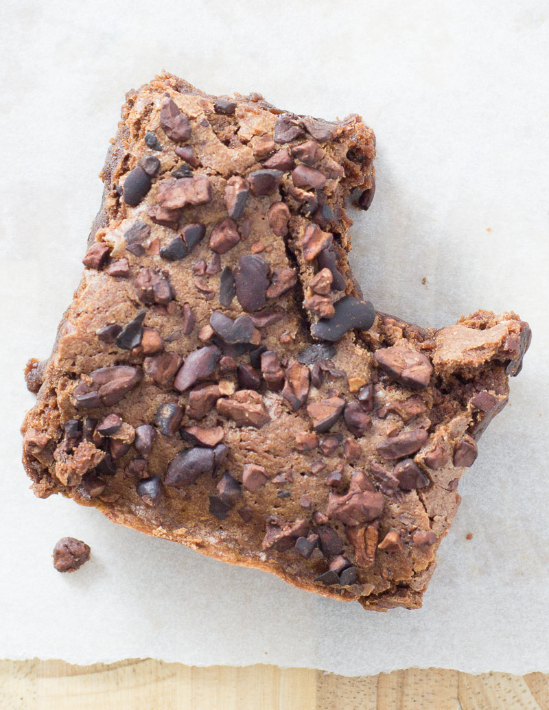 Mexican Chocolate and Cherry Brownies / JillHough.com