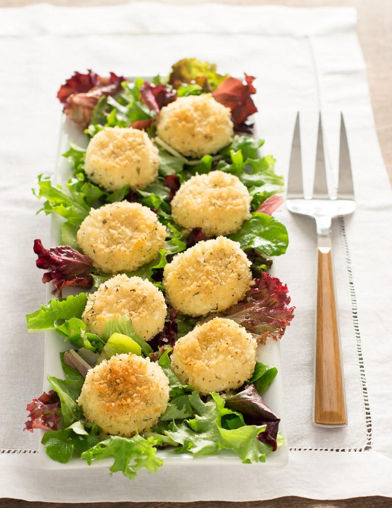 Baked Chèvre with Herbes de Provence Breadcrumbs / JillHough.com
