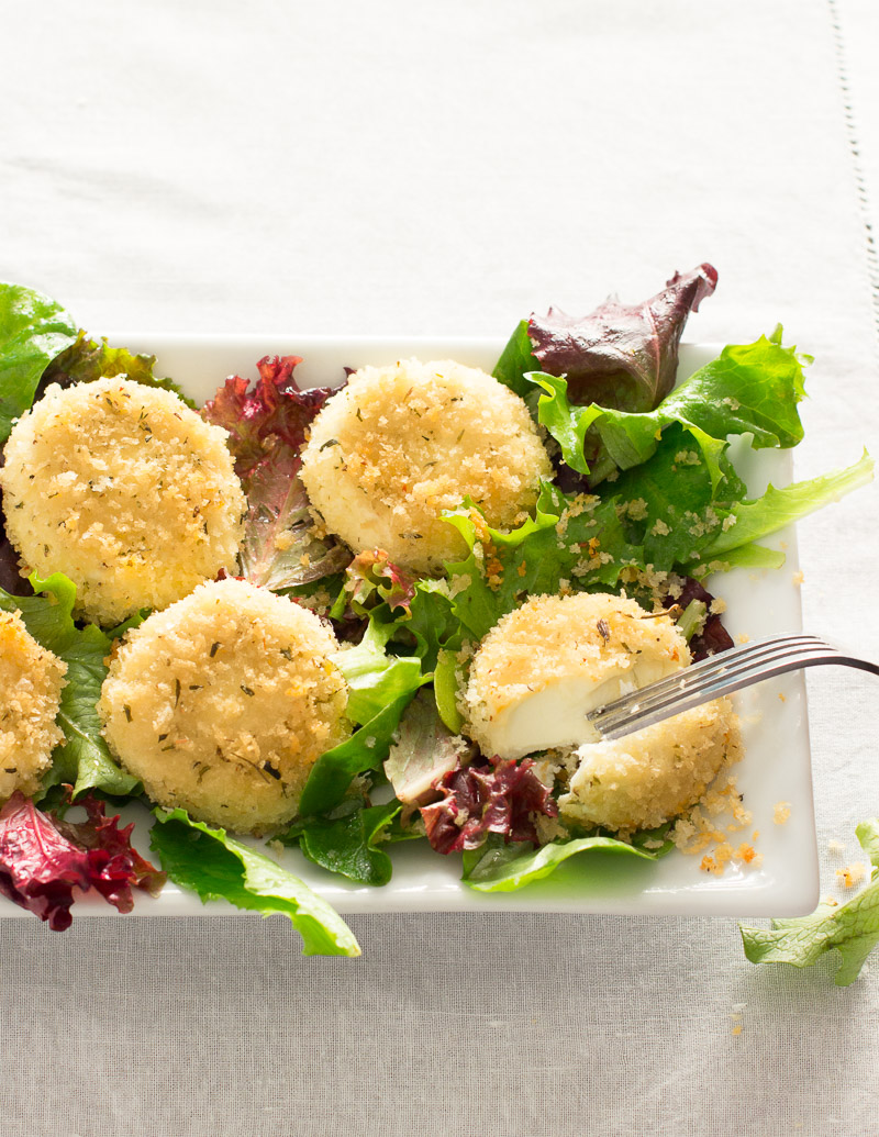 Baked Chèvre with Herbes de Provence Breadcrumbs