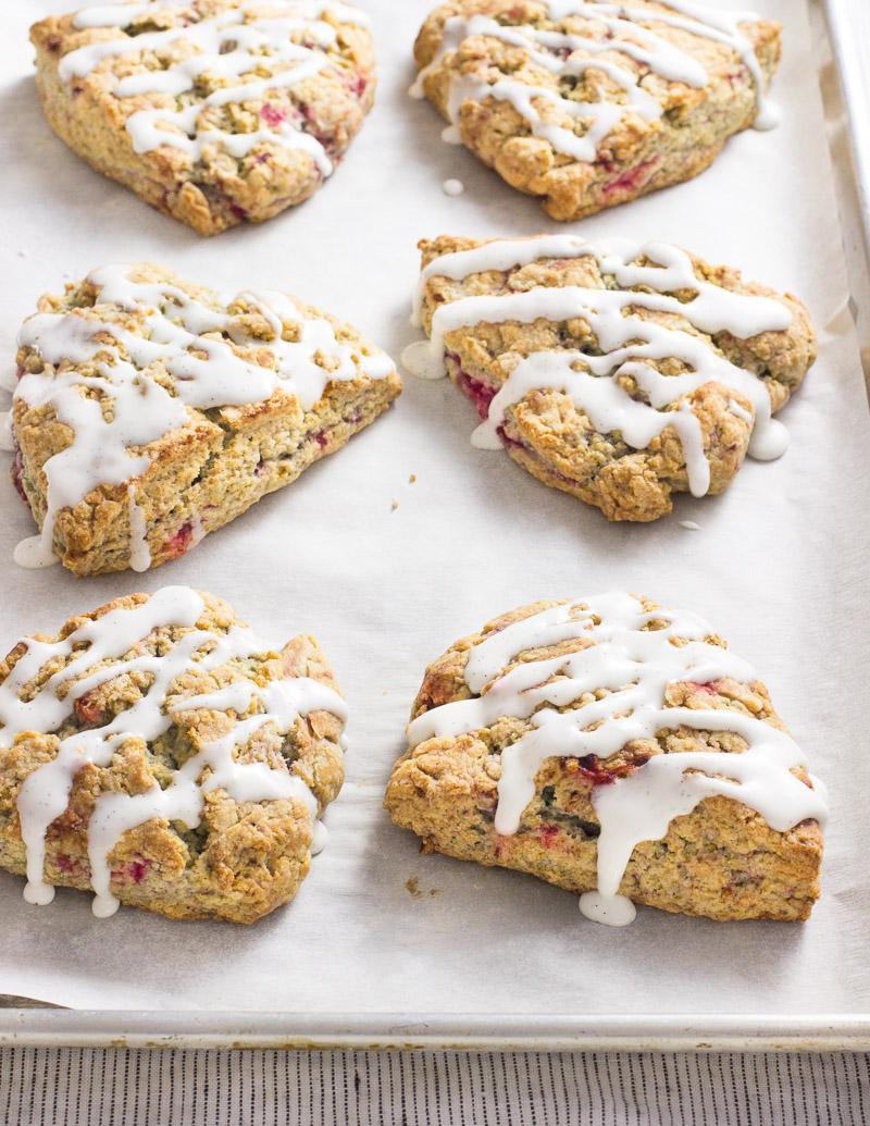 Raspberry Vanilla Bean Scones / JillHough.com