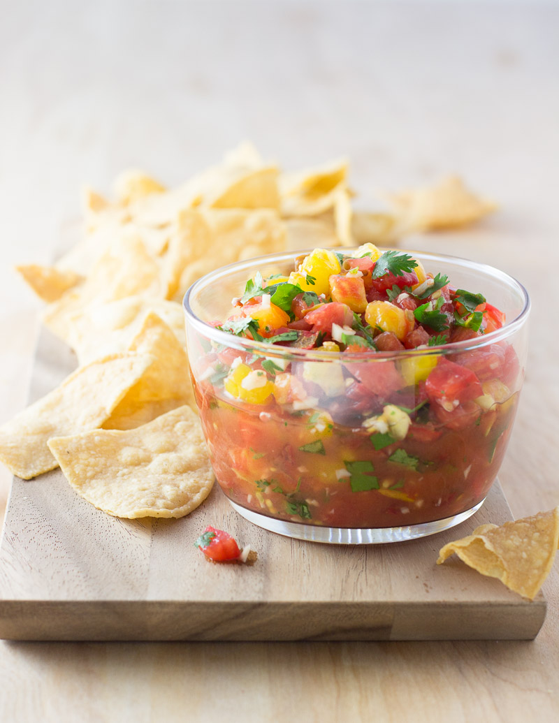 Simply Good Summer Tomato Salsa / JillHough.com