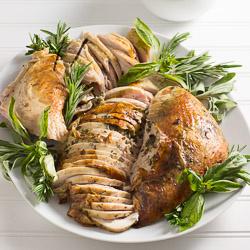Roast Turkey with Intensely Herb Butter / JillHough.com