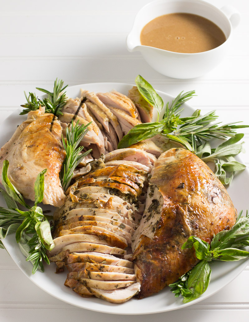 Roast Turkey with Intensely Herb Butter / JillHough.com
