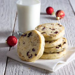 Hazelnut, Milk Chocolate, and Cherry Icebox Cookies / JillHough.com