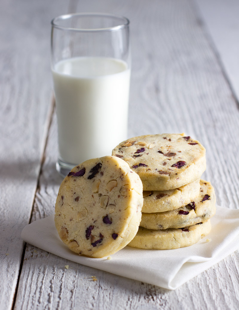 Hazelnut Milk Chocolate And Cherry Icebox Cookies