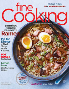 Fine Cooking Feb-Mar 2018 Cover / JillHough.com