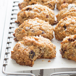 Salted Cherry Almond Oatmeal Cookies