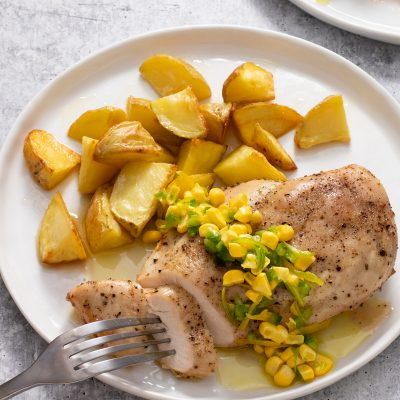 Chicken with Lemon-Lime, Corn, and Jalapeno Relish / JillHough.com The sunny Lemon-Lime, Corn, and Jalapeno Relish is amazing over chicken, but it's also great on steaks, salmon, burgers, BLTs, and more.