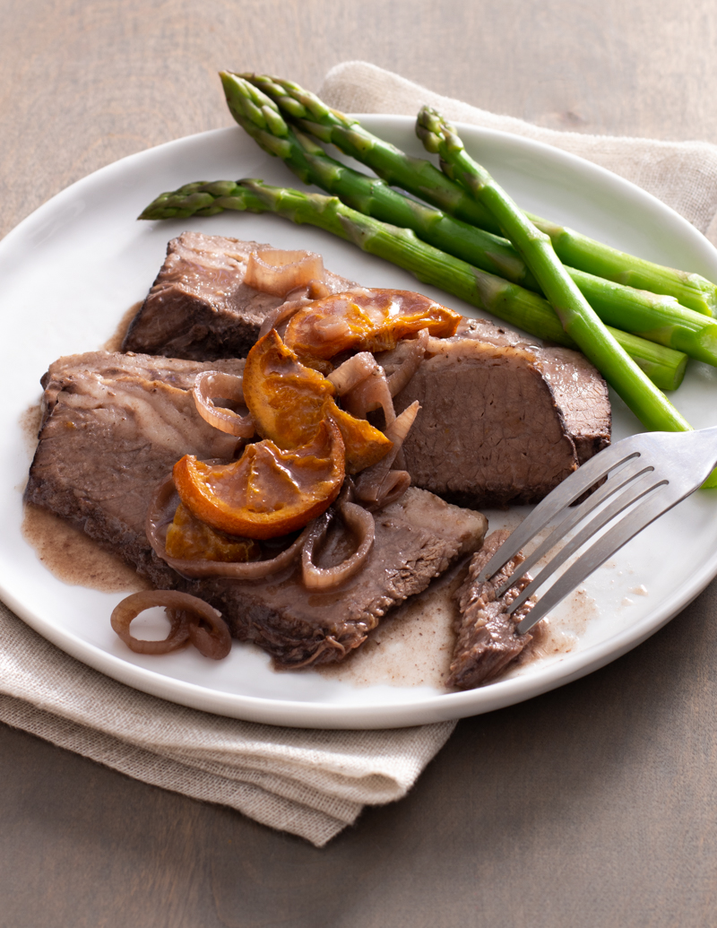 Spice-Braised Brisket with Shallots and Tangerines / JillHough.com